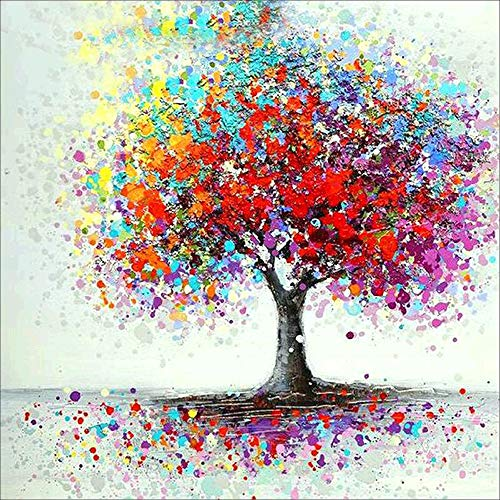 5D Diamond Painting Hot Sale!!!Kacowpper Full Drill Embroidery DIY Tree Colorful Nature Animal Pumpkin Scene Maple Leaf Christmas Thanksgiving Kit Home Decor Craft ()