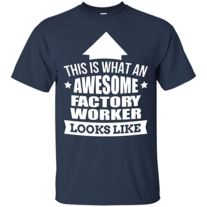 a9a0581683133 Spread Inspiration Black, Navy Factory Worker T-Shirt Funny Factory ...