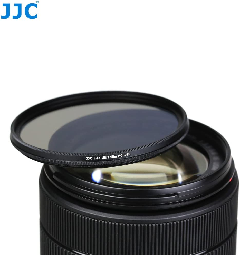 JW 55mm CPL Circular Polarizer Filter for Sony SELP1670Z SEL2870 SAL1855 SAL50F14 SAL35F18 SAL75300 SAL55200-2 SAL18552 JW Cleaning Cloth