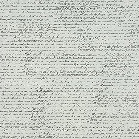 Canvas Tissuestock Printed French Script 10-Pack 12-Inch by 12-Inch Ivory