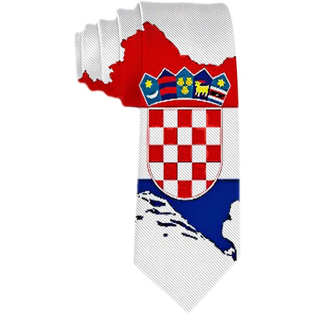 Corbata de los hombres de Croacia Mapa de la bandera Corbata de ...