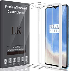 LK [3 Pack] Screen Protector for OnePlus 7t Tempered Glass (Alignment Frame Easy Installation) Bubble Free, Anti Scratch, Case Friendly