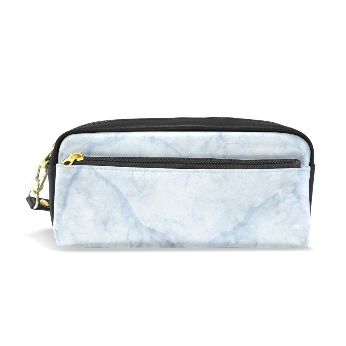 Pencil Case, Pen Bag Makeup Pouch Wallet Large Capacity Marble Waterproof of Students or Women FFY GO