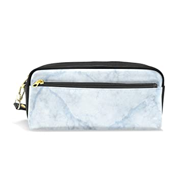 126b083ba151 Pencil Case, Pen Bag Makeup Pouch Wallet Large Capacity Marble Waterproof  of Students or Women