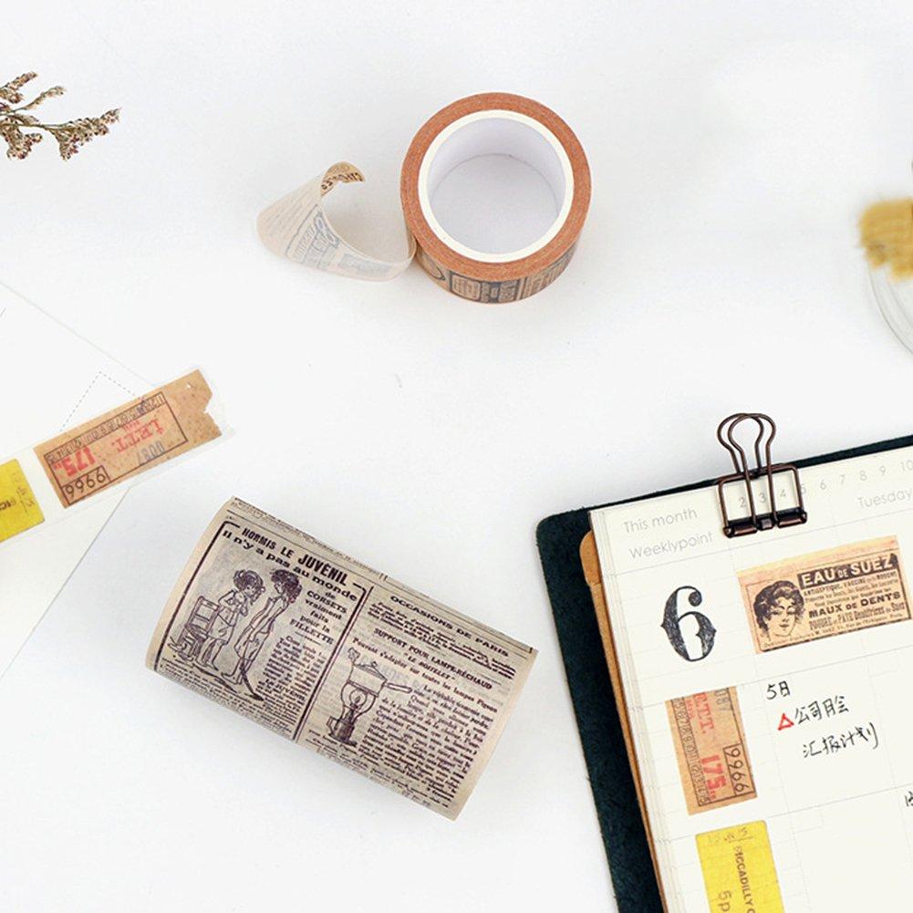 osmanthusfrag Vintage Selbstklebendes Scrapbook etiqueta adhesiva papel cinta adhesiva regalo World Map