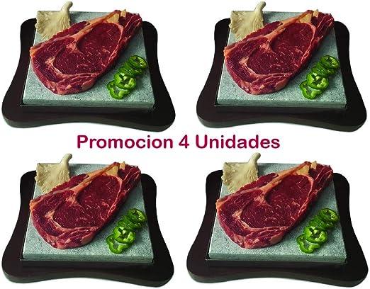 Piedra para Carne de 20x20 promoción 4 Unidades: Amazon.es