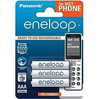 Panasonic eneloop, Ready-to-Use Ni-MH accu, AAA Micro, 3 stuks, min. 750 mAh, 2100 laadcycli, geringe zelfontlading…