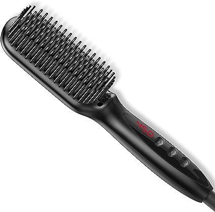 Cepillo alisador de barba, peine alisador de barba rápido para ...