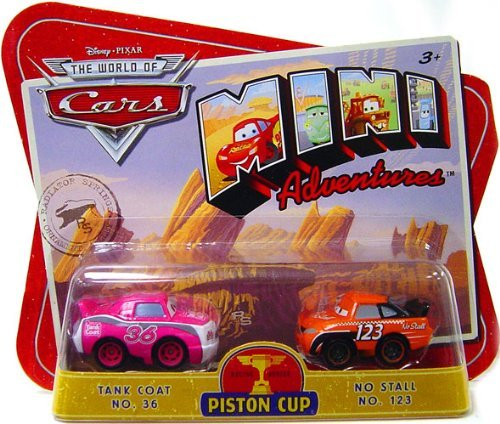 (Disney CARS Mini Adventures Piston Cup Tank Coat No. 36 and No Stall No. 123)