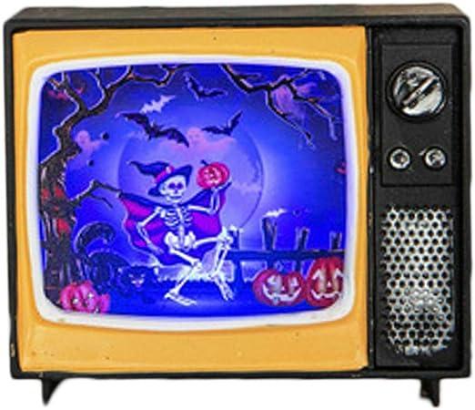GARNECK lámpara de decoración de Forma de TV luz de Noche Creativa patrón de Esqueleto decoración de Escritorio para Bar Sala encantada casa Secreta: Amazon.es: Hogar