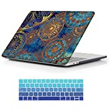Macbook Retina 15 inch Case,iCasso Art Printing Hard shell Plastic protective Case Cover for For Apple Laptop Macbook Pro 15 Inch with Retina Display (No CD-ROM) Model A1398 With Keyboard Cover (Bohemia)