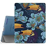 MoKo Case for iPad 2 / 3 / 4 - Ultra Slim Lightweight Smart-shell Stand Cover with Translucent Frosted Back Protector for iPad 2/ The NEW iPad 3 (3rd Gen)/ iPad 4, Toucan Bird (with Auto Wake / Sleep)