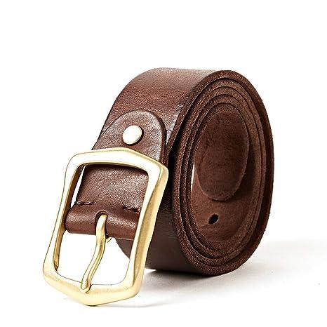 621f871f6cf H-M-STUDIO Cinturón De Cuero con Hebilla De Cuero Puro para Hombre Cinturón  De Cuero