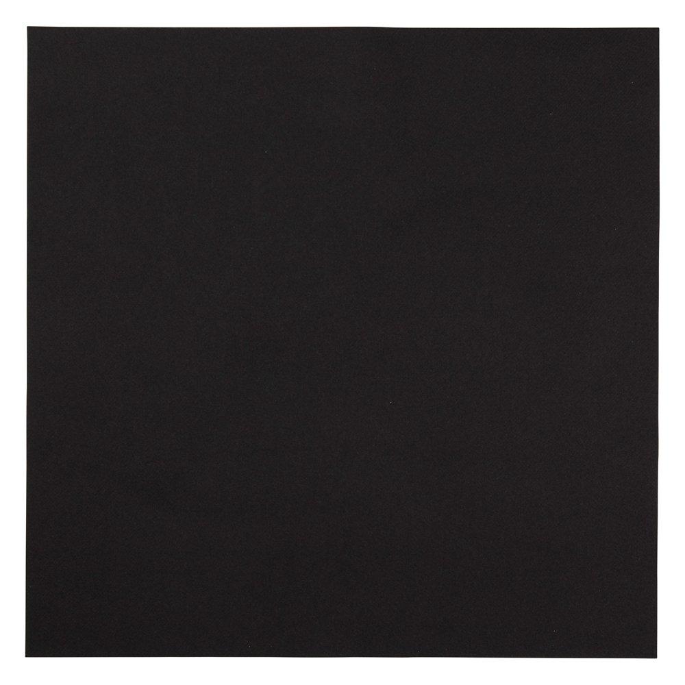Hoffmaster 125070 Linen-Like Color In Depth Flat Pack Napkin, 16'' Length x 16'' Width, Black (Case of 500)