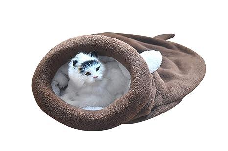 Saco de Dormir para Gatos Bolsa para Mascotas Suave Cálido Lavable Cama de Gato Snuggle Saco