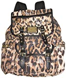 Juicy Couture Womens Sequin Backpack Brown Leopard Print For Sale