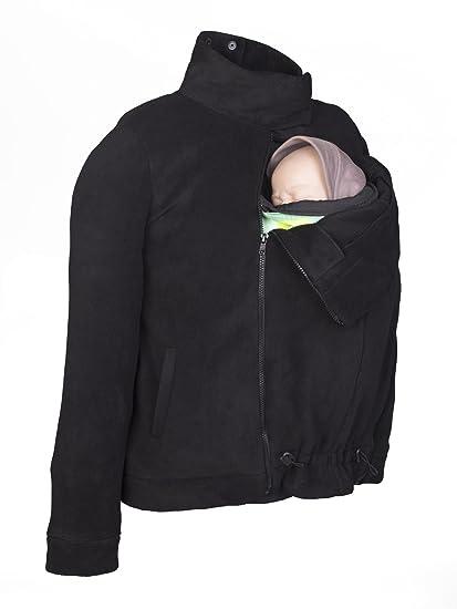 Abrigo de porteo polar Momawo Mom&Dad (Black, ...