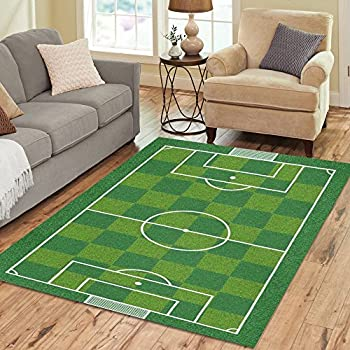 InterestPrint Sport Football Soccer Field Area Rug Cover Carpet 7 X 5 Feet,  Football Soccer Field Play Modern Carpet Floor Rugs Mat Cover For Children  Kids ...