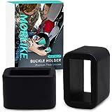Morlike Silicone Belt Buckle Holder (Black, 2 Pack)