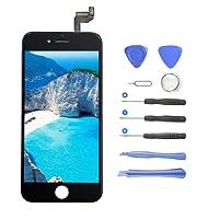 AJJHOMER Écran LCD Display pour iPhone 6, Écran LCD Écran Tactile LCD Écran De Remplacement pour iPhone 6 Kit De Réparation Ecran D'affichage avec Kit D'outils - Noir (4.7 Pouces)