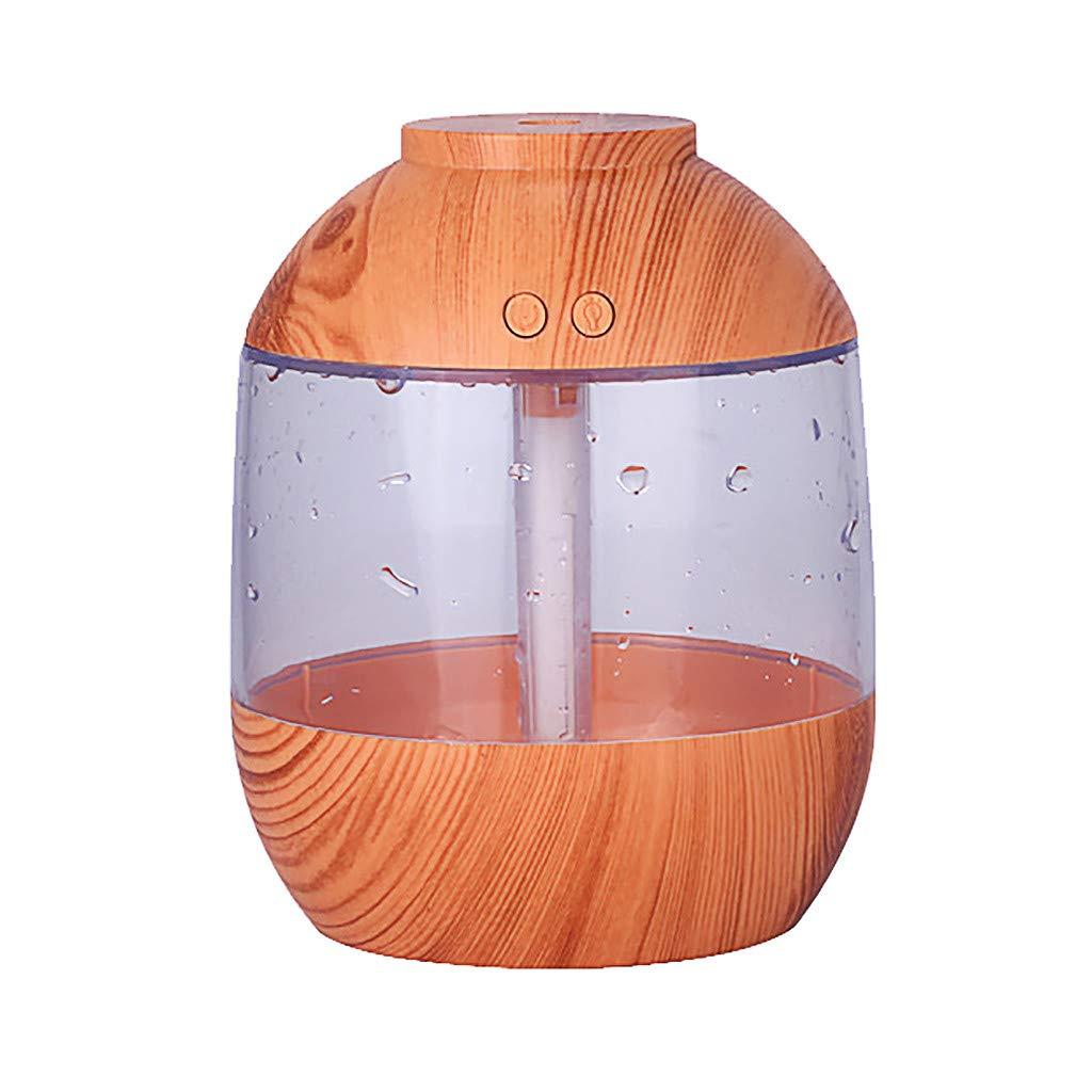 HomeMals Retro Air Aroma Oil Diffuser LED Ultrasonic Aromatherapy Aromatherapy Humidifier Large Capacity Wood Grain Humidifier Atomizing Humidifier