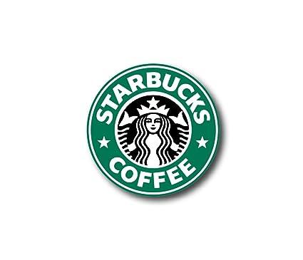 Picavinci Corp 3 Starbucks Logo Decal Sticker For Case Car Laptop Phone Bumper Etc
