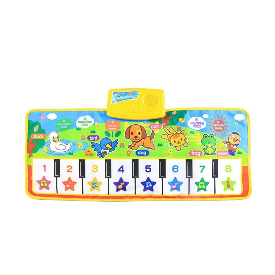 OIYINM77 73 x 29 cm Pieghevole Multifunzionale Gioco Musicale per Bambini Coperta per lapprendimento Coperta Giocattoli educativi Chitarre e Strumenti a Corda