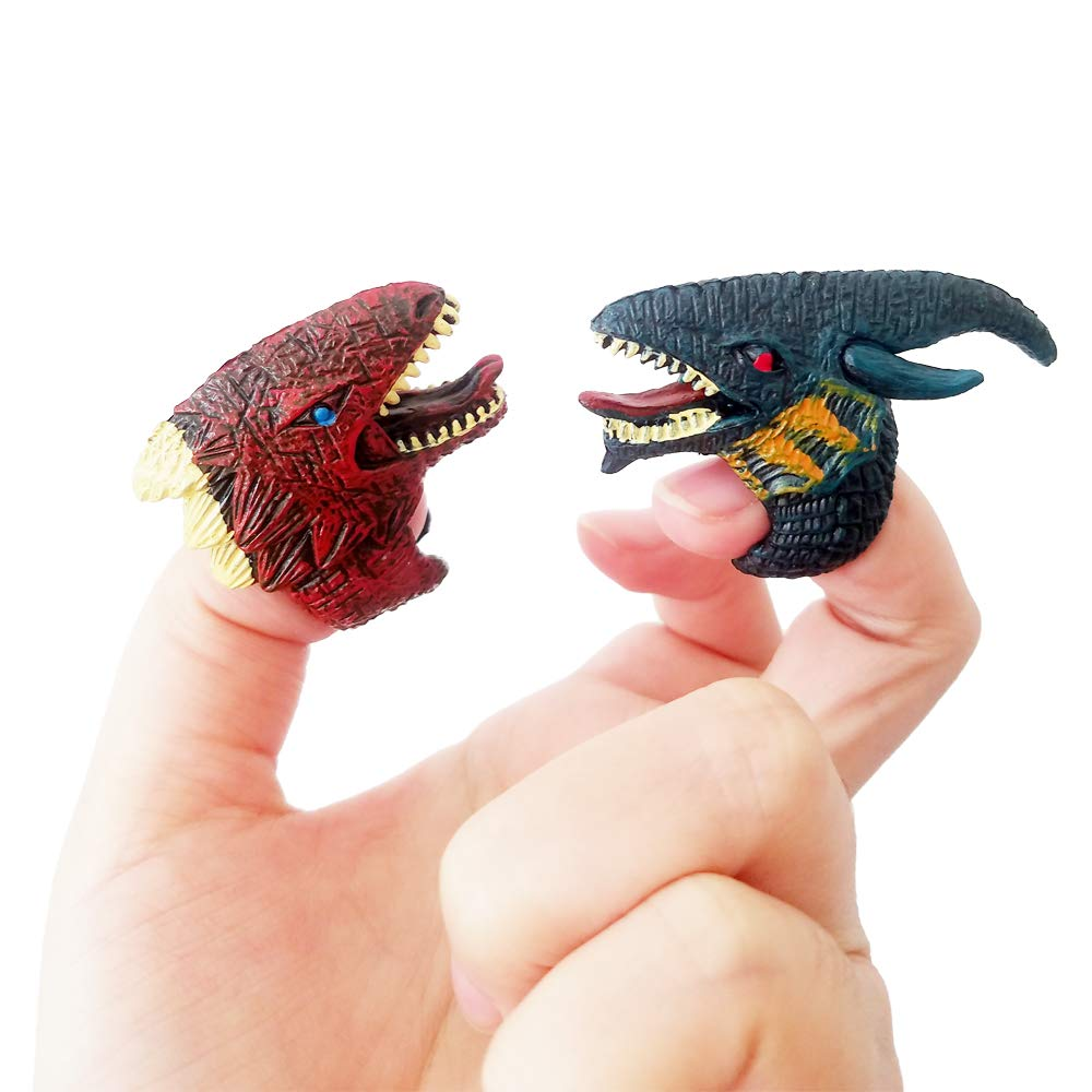 Ginkago Dinosaur Dino Fossil Rings Party Favors Decoration Supplies Jurassic T-REX Finger Toys for Kids Boys Girls Christmas Birthday Gifts 12Pcs by Ginkago (Image #2)