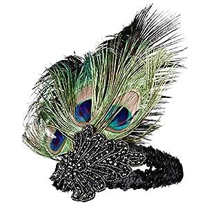 BABEYOND 1920s Flapper Accessories Gatsby Costume Accessories Set 20s Flapper Headband Pearl Necklace Gloves Cigarette Holder