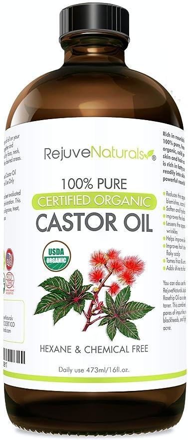Amazon.com: Orgánico Aceite de Ricino, 100% Pure, hexano ...