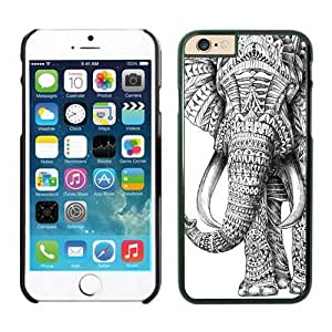 Iphone 6 Plus Case 5.5 Inches, Aztec Elephant Black Hard Phone Cover Case for Apple Iphone 6 Plus