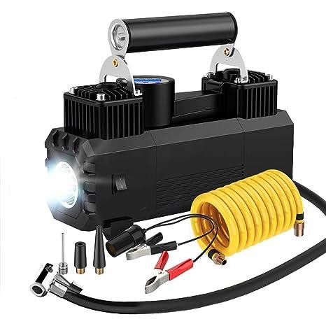 Inflador De Neumáticos Bomba, Compresor De Aire Portátil Con Presión Preestablecida Y Pantalla Digital Para