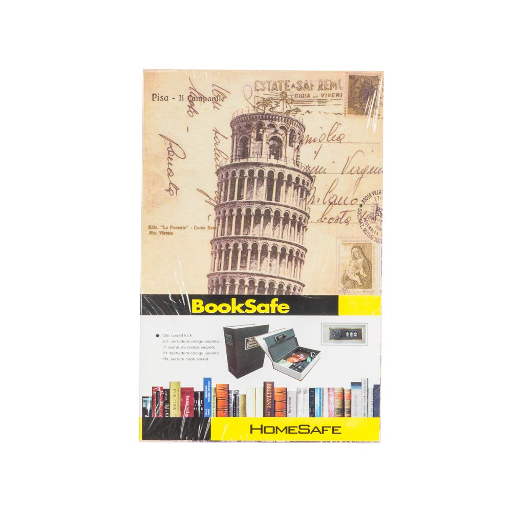 Amazon.com: Cute Simulation English Dictionary Style Mini Safety Storage Box (Tower of Pisa, M): Office Products