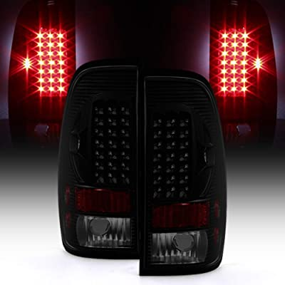 ACANII - For Black Smoke 1999-2007 Ford F250 Superduty 97-03 F150 LED Tail Lights Brake Lamps: Automotive