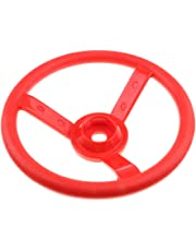 HOMYL Children Playground Steering Wheel Toys with Screw Garden Game Cubby/Tree House Climbing Frame Red