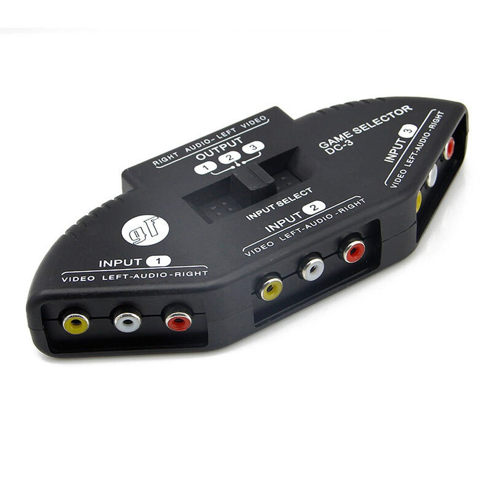 Audio Video AV RCA Switch Splitter Selector 3 to 1 RCA composite AV cable for STB TV DVD player for XBOX PS2: Amazon.es: Electrónica