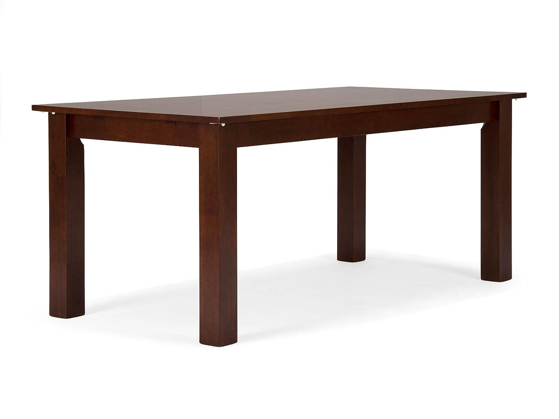 massivum Esstisch Bologna 120x75x80 cm Rubberwood braun gebeizt und ...