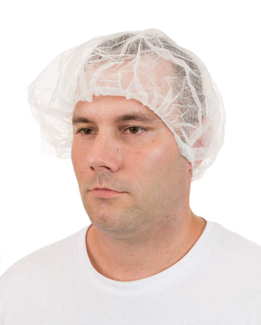 International Enviroguard Disposable Bouffant Hair Nets, Pleated White (21'', Case of 1000)