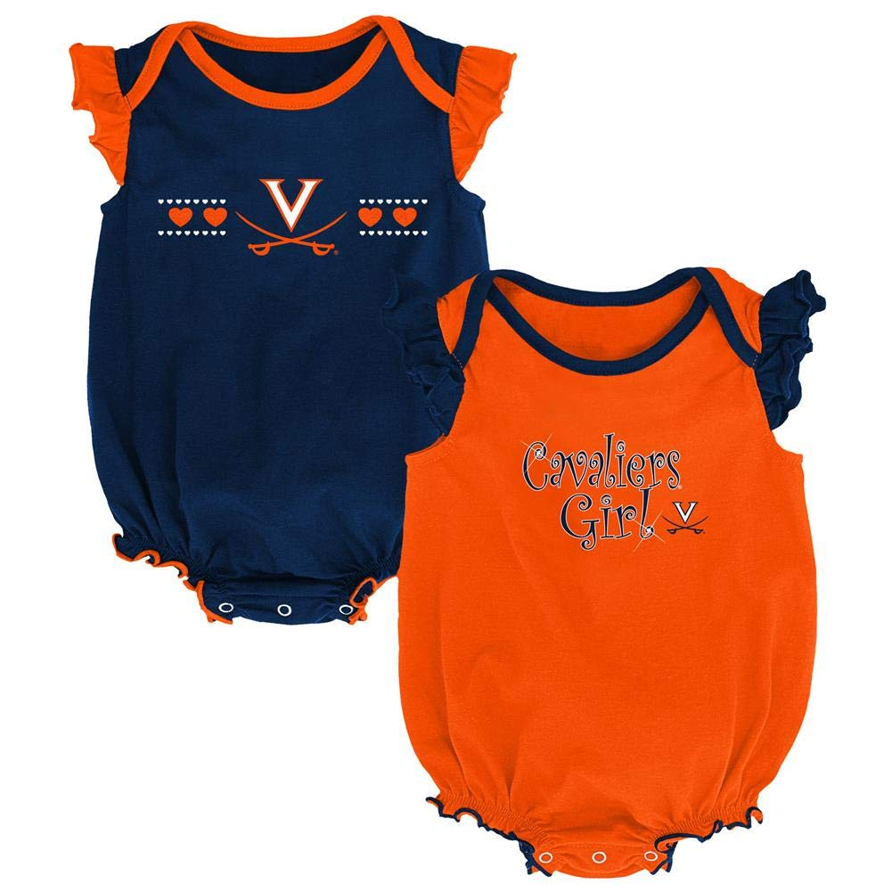 Outerstuff Infant University of Virginia Cavaliers Creeper Set Baby Snapsuit Set
