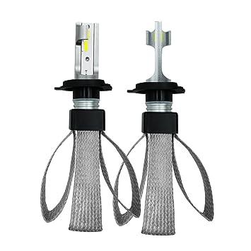 Bombillas LED, Faros LED Bombillas Kit De Conversión 60W 6000K 9600LM CSP Fuente De Luz Impermeable IP68-2 Piezas,H4: Amazon.es: Coche y moto
