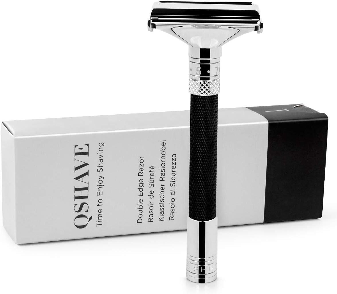Maquinilla de afeitar de seguridad Parthenon QSHAVE V 2.0 : ajustable para una excelente comodidad de afeitado: Amazon.es: Salud y cuidado personal