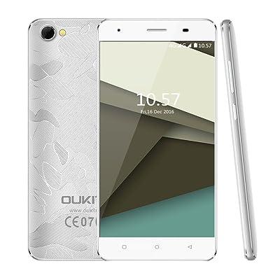 "Smartphone Libres, OUKITEL C5 Pro 4G Smartphone Libre Android 6.0 (Pantalla 5"", 16GB ROM, 2GB RAM,Dual SIM,Quad Core,1.3 GHz,WIFI,Bluetooth), Plata [Clase de eficiencia energética A+++]: Informática"