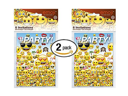 Pk Emoji Party Invitations 16ct
