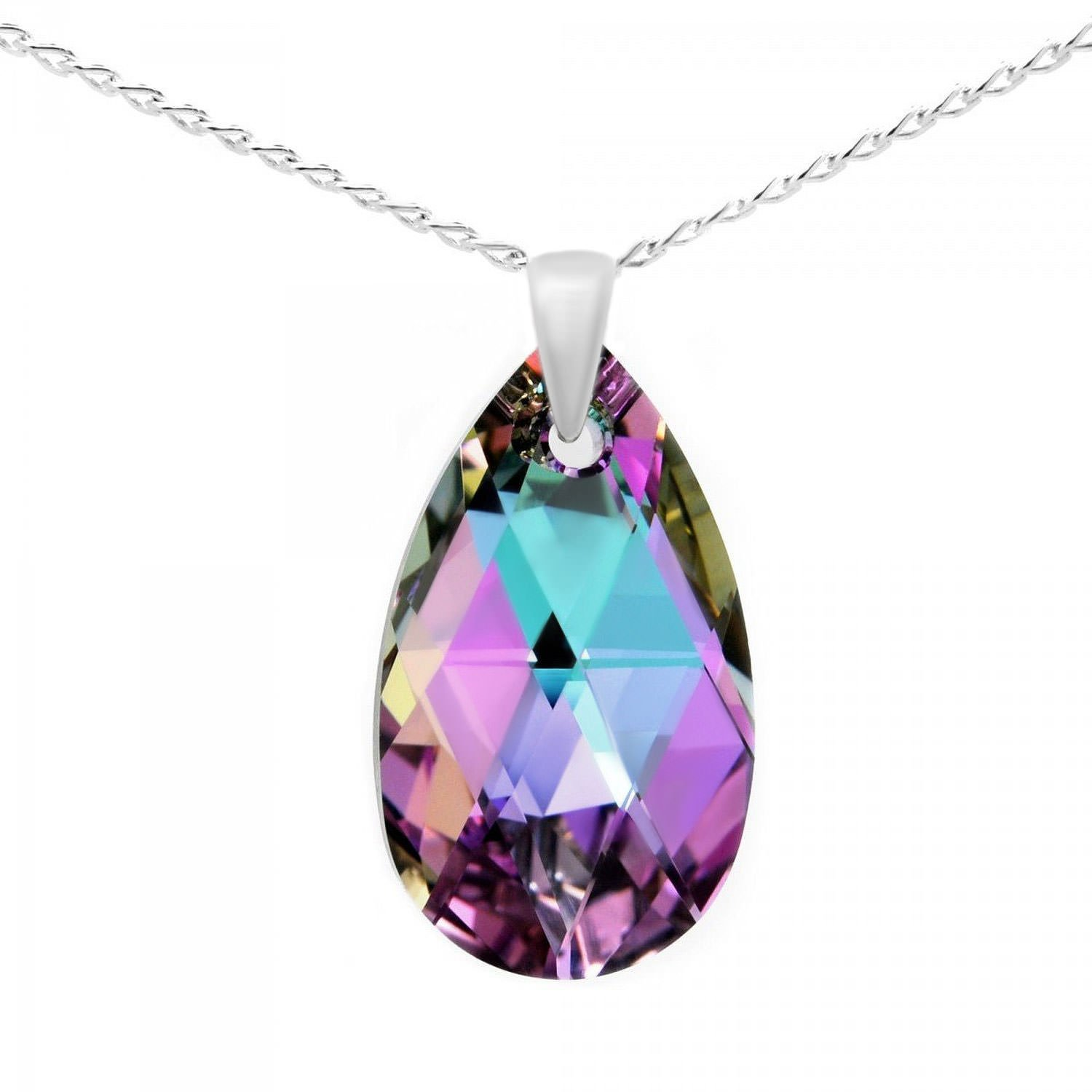 necklace shop pink swarovski crystal