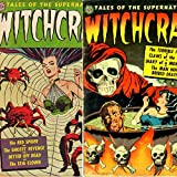 Witchcraft. Issues 3 and 4. Tales of the supernatural. The red spider, ghosts revenge, terrible face and claws of the cat.  Golden Age Digital Comics.