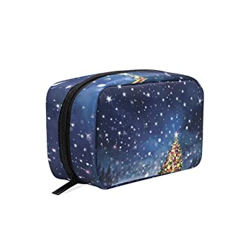 2ddd6c695280 Amazon.com : OREZI Scene With Christmas Tree Portable Travel Mini ...