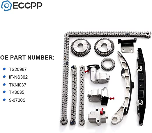 Ineedup Timing Chain Kits Fit for 2002 2003 2004 2005 2006 Nissan Altima 2.5L 2500CC l4 Gas DOHC Naturally Aspirated