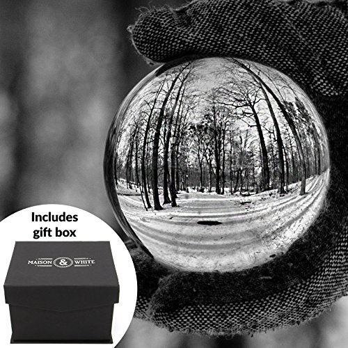 - Clear Crystal Ball | 80mm K9 Glass Lens Photo Sphere | Includes Free Gift Box & Stand | For Photography, Decoration, Meditation | Ideal Gift Idea | M&W