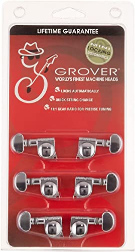 Grover 406C Rotomatic Mini 3 per Side Self Locking Machine Heads