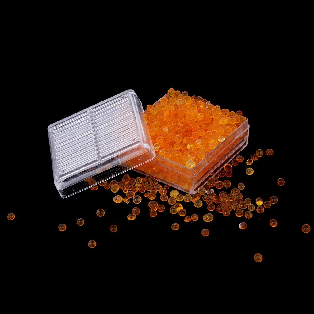 A0127/dessiccant AU Gel de s/ílice perlas de Gel reutilizable perlas de moho c/ámara seca 2pcs Naranja